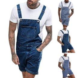 Fitted Denim Jumpsuit Australia - Slim Fit Denim Scratched High Quality Jean Mens Plus Pocket Jeans Overall Jumpsuit Streetwear Overall Suspender Pants S-3XL