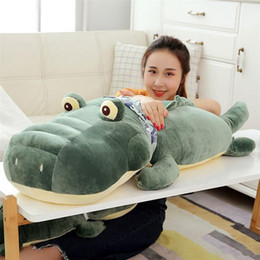 Crocodiles Alligator Toys Australia - new giant crocodile plush pillow toy big stuffed ainmals alligator dolls for children friend gift decoration 43inch 110cm