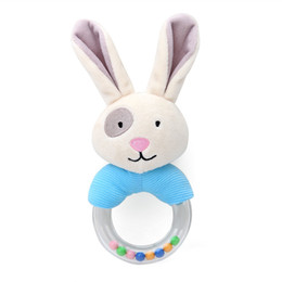 soft animal baby rattles Australia - Cute Bunny Plush Toys For Children Stuffed Animals Baby Soft Rattle Educational Toys Rabbit Doll Newborn Infants Toys Kids Gift Wholesale
