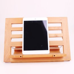 Wholesale Wooden reading frame reading bookshelf reading stand notebook tablet bracket recipe rack large customizable children s gifts