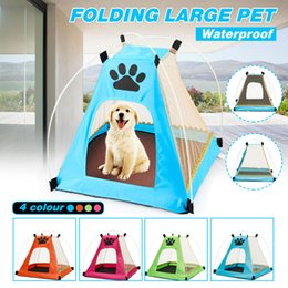 Portable Folding Pet Tent Dog House Cage Dog Cat Tent Playpen Puppy Kennel Fence Outdoor Supplies SH190713 on Sale