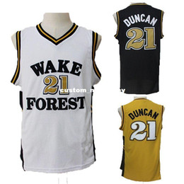 Cheap custom Tim Duncan  21 Wake Forest Demon Deacons NCAA College  Basketball Jersey Stitch customize any number name MEN WOMEN YOUTH XS-5XL 639b94e3b