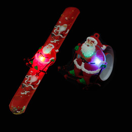 $enCountryForm.capitalKeyWord NZ - New Year Gifts LED Christmas Bracelet Glowing Bracelet Santa Claus Clap Ring Christmas Supplies Toy Xmas Ornament Navidad natal
