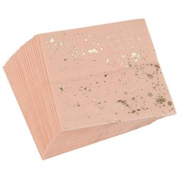 $enCountryForm.capitalKeyWord UK - Gold Blocking Pink Marble Texture Disposable Tableware Set Paper Napkins Party Wedding Carnival Tableware Supplies disposable