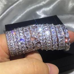 Sona ringS online shopping - 9 Styles Handmade Finger ring Diamond Sona Stone Sterling silver Engagement wedding band ring for women men Finger Jewelry