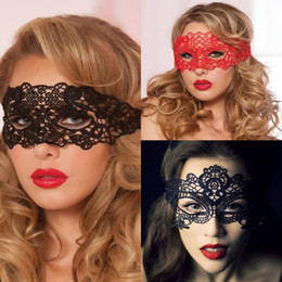 erotic cosplay full Canada - 2018 Sexy Babydoll Porn Lingerie Sexy Black White Red Hollow Lace Mask Erotic Costumes Women Sexy Lingerie Cosplay Party Masks