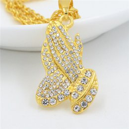 rap jewelry 2019 - New Fashion Gold Rhinestone Alloy Rap Bergamot Pendant Necklace Ethnic Vintage Style Bohemian Party Gift Christmas Neckl