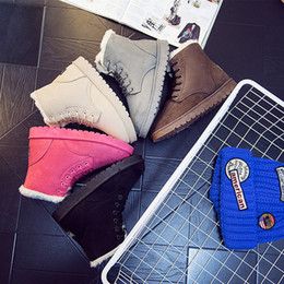 Wholesale 2019 Snow Winter Leather Women Australia Classic kneel half Boots Ankle boots Black Grey brown beige red Womens girl shoes running shoes