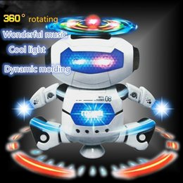 Electric Toys Dance Rotating Robot with LED Lights Music Explosion Intelligence Toy with Battery Powered Direct China Wholesales from dog leash pull suppliers