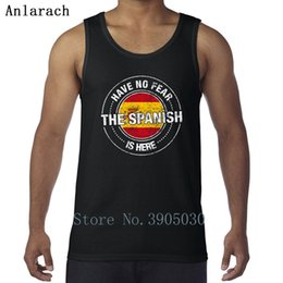 basic card Australia - Don't be afraid, Spanish here basic humor vest solid classic men's creative card sleeveless T-shirt