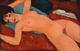 nude oils Canada - Amedeo Modigliani Reclining Nude Home Wall Art Decor Handpainted &HD Print Oil Painting On Canvas Wall Art Canvas Pictures 190828