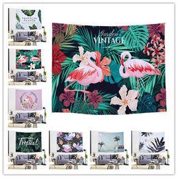 Background Prints Australia - 26 Styles Ins print room decoration tapestry lucky elephant flamingo mandala background cloth tapestry tarpaulin ST381