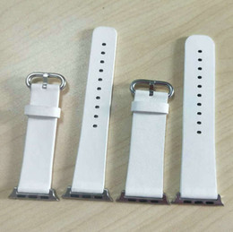Leather Connectors Australia - For the Apple Watch leather strap iWatch 234 Apple strap white painted raw ear connector