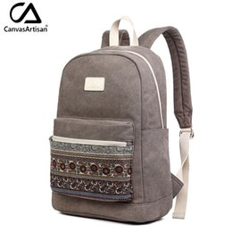 $enCountryForm.capitalKeyWord Australia - Canvasartisan Brand New Canvas Backpack Bag For Women Vintage Stylish Casual Laptop Travel Backpacks 2 Size 13 Inch 15 Inch Y19052202