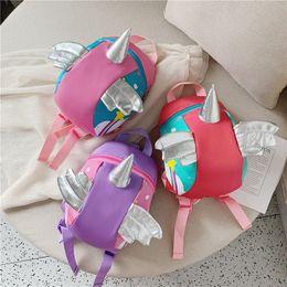 $enCountryForm.capitalKeyWord Australia - Baby Animal Fancy missing-proof Backpacks for infants children cute cartoon wing unicorn backpacks School Bags tour package