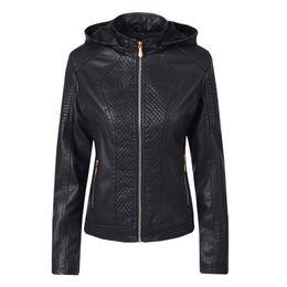 $enCountryForm.capitalKeyWord Australia - 2019 Autumn Winter Coats for Women Hooded Leather Jacket Joker Motorcycle Clothing Slim Short Jacket Female Casual Clothes Warm Outerwear