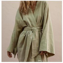 $enCountryForm.capitalKeyWord Australia - Japanese Kimono Womens Dresses Designer Deep V Neck Summer Dress With Belt Ladies Fashion Casual Dresses