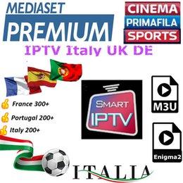 Abonnement IPTV M3u IPTV Italie Royaume-Uni Allemand Français Espagnol Portugal Mediaset Premium Pour Android Box Enigma2 Smart TV PC Linux
