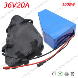 36v lithium ion battery online shopping - Europe No Tax W V Triangle Battery V AH Electric Bike lithium ion battery pack with bag A BMS V A charger