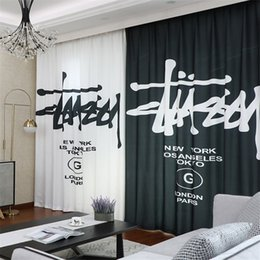 $enCountryForm.capitalKeyWord Australia - Black White Letter Curtain 2019 New Style Fashion Bedroom Window Treatments Shade Curtain Valance For Men And Women