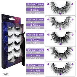 $enCountryForm.capitalKeyWord Australia - G600-605 3d Eyelashes 2020 New INS Fashion False Eyelashes 5 Pairs Mixed G6 Series Black Color High Quality Imported Fiber Soft lash 22.7g