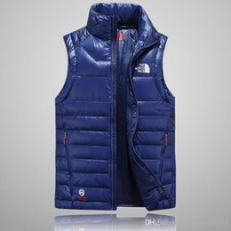 Zipper Down Vest Australia - Hot 2018 men down jacket North vest Male Sports Jackets Bomber Collar Zippers Outdoor face Coats