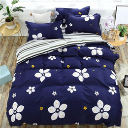 girls twin bedding sets 2019 - Blue 4pcs Girl Boy Kid Bed Cover Set Cartoon Duvet Cover Adult Child Bed Sheets And Pillowcases Comforter Bedding Set 2T