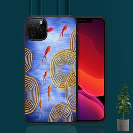 iphone abstract Australia - 2019 Abstract painting of Goldfish Cover For iPhone X 11 8 5S SE 6S 7 Plus Support Wireless Charging Case Capinha de Celular