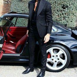 $enCountryForm.capitalKeyWord Australia - Latest Wide Peak Groom Tuxedos Men Suits for Wedding Man Item Black Blazer trajes de hombre Costume Homme 2Piece Slim Fit Terno Masculino