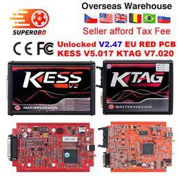 Ecu Programmer Kit Australia - EU Red KESS V2 v5.017 Master ktag v7.020 Manager turning kit No Token Reading Limited KESS V2.47 V4.036 Main Unit ECU programmer