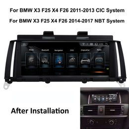 Touch Screen Car Stereo Gps Bluetooth Australia - COIKA Car DVD Multimedia Player GPS Navi Android 6.0 System For BMW X3 F25 X4 F26 2011-2016 Touch Screen Stereo 6 Core CPU Bluetooth SWC