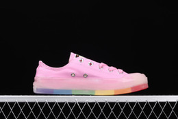$enCountryForm.capitalKeyWord Australia - New Fashion With BOX Luxury Famous Designer American Women Canvas Shoes Kanye Vintage Classic Style Candy Rainbow Color Daily Casual Shoes
