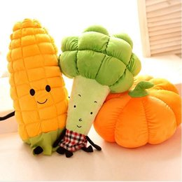 Personalized Dolls Australia - 60cm Cute Lovely Personalized creative vegetable plush doll toys pillows cushions sofa pillows birthday gifts Pumpkin corn doll