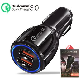 9v Car Australia - QC 3.0 Fast Charging Dual USB Car Charger 5V 9V 12V Mobile Phone Quick Charge Adapter for iphone X XS Max 8 ipad Galaxy S10