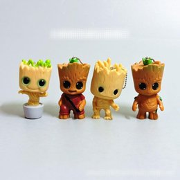 Groot Pendant Australia - 4 Style Guardians of the Galaxy 2 Groot Doll toys 2018 New kids avenger Lovely Cartoon Groot key ring pendant Toy MMA555 1000pcs