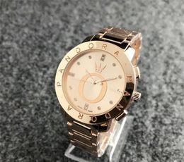 5e4ba4676e93 Nuevos hombres Diamante reloj de pandora Reloj de pulsera de acero  inoxidable de lujo Relojes de cuarzo de acero mk dz dw mujer reloj de marca  envío gratis