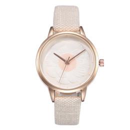 $enCountryForm.capitalKeyWord Australia - Women Watch Elegant Style fashion Leather Casual flower pattern dress quartz Wrist Watch Fashion Quartz watchl model kh018