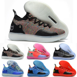 28cfa636ec8b 2019 New designer shoes KD 11 Kids Basketball Shoes Kevin Durant 11s Zoom  mens running Athletic shoes yellow KD EP Elite Low Sport Sneakers