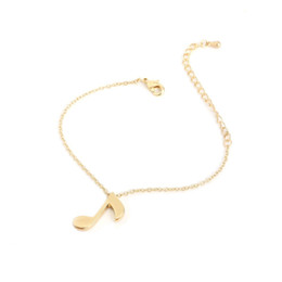 music note bangle NZ - Shuangshuo Fashion Delicate Musical Note Bracelets for Women Love Music Note Individuality Charm Bracelet Bangles pulseras SL006