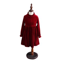 China Kids Winter Long-sleeve Dresses Age For 4-14 Yrs Teenage Girl Velvet Elegant Evening Party Gown 2019 Spring School Child Clothes J190508 supplier girls dresses age 14 suppliers