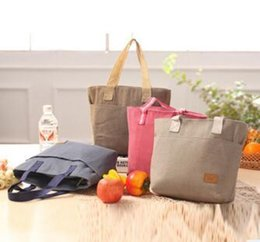 large canvas clutch Australia - 1Korean Version Of The New Canvas Insulation Lunch Bag Zipper Preservation Lunch Bag