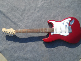 Metal String Guitars Australia - Factory store Metal red candy stratocaster signature rose fretboard 6 string Chrome Hardware Electric Guitar