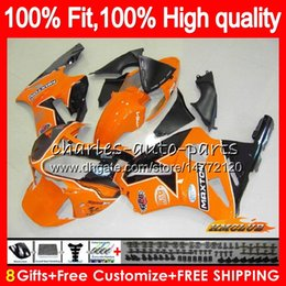 zx12r ninja fairing kit NZ - 100%Fit Injection For KAWASAKI ZX1200 C ZX 1200 12R 1200CC 00 01 48HC.38 ZX 12 R orange black ZX12R 00 01 ZX-12R 2000 2001 OEM Fairing kit