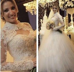 Wedding Dress Jackets Lace Australia - Vestido De Noiva Lace Ball Gown Wedding Dresses with Jacket Pearls 2019 Sweetheart Wedding Gown Bride Dress Robe de Mariage