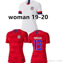 usa soccer uniforms NZ - World cup 2019 America girl Soccer Jersey United States home away Shirt USA women 3 star LLOYD RIPINOE KRIEGER Football Uniform Female 19 20