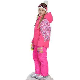 $enCountryForm.capitalKeyWord Australia - Kids clothes Girl Winter Warm Skiing Suit Windproof Ski Jacket Pant Teens Outdoor Sport Suits for Girls Children Clothing Set