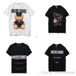 5bea0d3ef Nova Moda Moschinos T-shirt Dos Homens MOS Camisas Marca Designer de Luxo  Alemanha Mangas Curtas Top Tee Outono Hommes Hip Hop Online