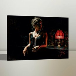 Red oil canvas online shopping - Fabian Perez Marina with Red Light Handpainted HD Printed Oil Painting On Canvas Wall Art Picture Home Decor190820