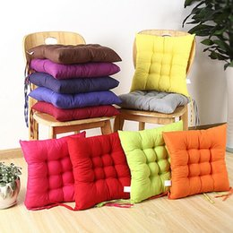 Kitchen Seating Australia - Chair Cushion Solid Chair Seat Pillow Soft Colorful Cushion Pad Outdoor Garden Fur Patio Home Kitchen Office Car Sofa Decorative CLS170