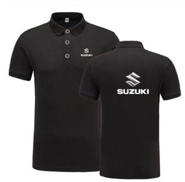 plus size polo shirts for men UK - New Summer Short-sleeve Polo Homme High Quality Cotton Fashion For Suzuki Logo Print Polo Shirt Casual Business Camisa Polo K